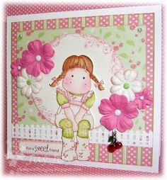 Card using Martha Stewart picket fence punch