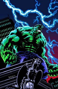 #Hulk #Fan #Art. (INCREDIBLE HULK #26) By: Kyle Hotz.