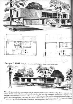 Explore MidCentArc's photos on Flickr. MidCentArc has uploaded 3189 photos to Flickr. Contemporary House Plans, Modern House Plans, House Floor Plans, Mcm House, Villa, Vintage House Plans, Architecture Plan, Vintage Architecture, Googie