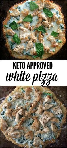 Are you following the keto way of eating? Then you HAVE to try this white keto pizza! Cheesy, satisfying greatness and only 2.5g of carbs per serving! recipes, easy, low carb, lchf, ketosis, ketogenic