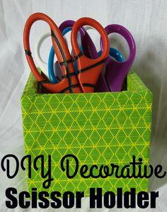 DIY Decorative Scissor Holder For Your Homework Station