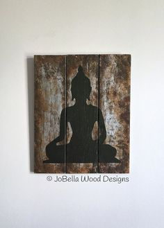 Free Shipping  Buddha on Faux Rusted Metal by JoBellaWoodDesigns