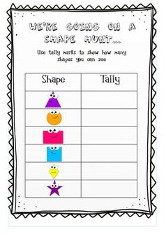 Shape activities and posters Shape Activities Kindergarten, 2d Shapes Activities, Stem Activities, Learning Activities, Math Stem, Camping Theme, Home Learning, Numeracy, Home Schooling