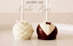 Heavenly Wedding Cake Pops by niner bakes, via Flickr