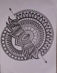 Mandala Art Lesson, Mandala Artwork, Mandala Painting, Mandala Drawing, Doodle Art Drawing, Zentangle Drawings, Zentangles, Art Drawings Sketches Simple, Pencil Art Drawings
