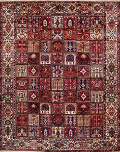 """Bakhtiari Persian Rug, Buy Handmade Bakhtiari Persian Rug 9' 10"""" x 12' 8"""", Authentic Persian Rug"""