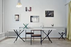 NEB Rectangular table with marble top 240x100 cm via NoEarlyBirds - Per S�derberg. Click on the image to see more!