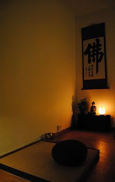 Zazen, still the mind..