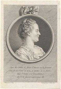 Augustin de Saint-Aubin, after Charles-Nicolas Cochin II, Portrait of Madame de Pompadour, 1764, Etching