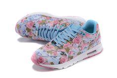 nike air max bloemenprint blauw