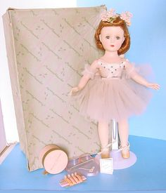 "1950s Margot Ballerina Margaret Face Minty Boxed 14"" Doll Madame Alexander 
