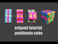 I like origami! I like moving paper as well. This project combines the For 8 cubes you need 8 x 6 colours pieces in total); Origami Toys, Origami Modular, Origami Cube, Origami Lamp, Origami And Quilling, Origami Paper Art, 3d Origami, Paper Toys, Paper Crafts