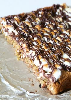 Salted Pretzel Marshmallow Blondies