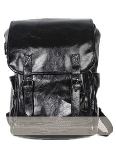 Kamabags Classic Casual PU Leather College Bag Backpack For Hiking Daypack ** See this great item shown here  : Day backpacks