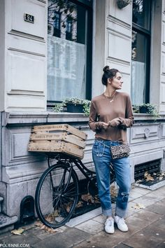 POLIENNE | wearing a WEEKDAY longsleeve top, AG JEANS denim Ag Jeans, Personal Style, Casual Outfits, Street Style, Style Inspiration, Denim, My Style, Lady, Long Sleeve