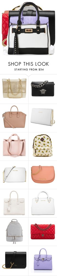 """""""Untitled #1447"""" by layniespeicher ❤ liked on Polyvore featuring beauty, Chanel, Versace, Givenchy, Trussardi, Corto Moltedo, Michael Kors, Yves Saint Laurent, MICHAEL Michael Kors and Mulberry"""