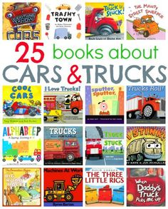 Awesome list of books for kids who love cars and trucks. It includes reviews of all 25 books.