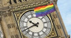 Rainbow flag flies from Houses of Parliament for first time ever