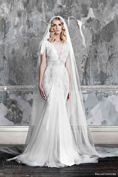 Sheath Wedding Dress : Pallas Couture 2015 Wedding Dresses  La Promesse Bridal Collection | Wedding