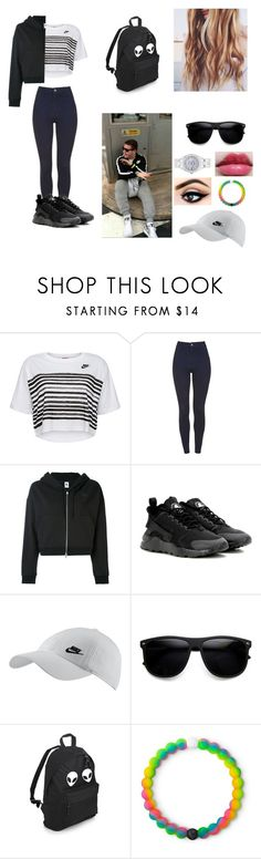"""Matching with Ethan"" by sidemenarecoolio ❤ liked on Polyvore featuring NIKE, Revlon, ZeroUV, Lokai and Rolex"