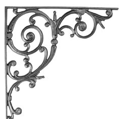 Scroll corner bracket- use on a doorway to create an arch