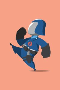 Happy Little Cobra Commander - by MrFlorey