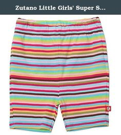 Zutano Little Girls' Super Stripe Bike Short, Multi, 2T. The zutano bike short is a modern alternative to the diaper cover. A shorts version of our skinny leggings, these shorts are great for layering under dresses or pairing with shirts. Available in many print options. 100percentage interlock cotton. Imported.