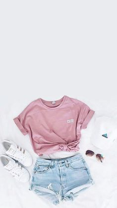 fashion, outfit, and adidas image Cute Lazy Outfits, Teenage Girl Outfits, Girls Fashion Clothes, Teenager Outfits, Teen Fashion Outfits, Simple Outfits, Outfits For Teens, New Outfits, Pretty Outfits