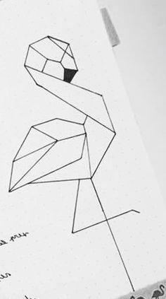 Flaming♡ - - Rosie Home Doodle Drawings, Art Drawings Sketches, Doodle Art, Easy Drawings, Geometric Drawing, Geometric Art, Bullet Journal Inspiration, Painting & Drawing, Watercolor Art