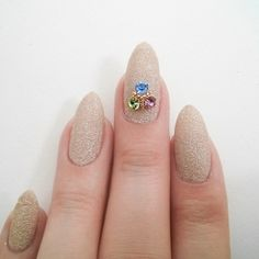 Nail Art Decoration - Triangle Cluster / Colored Crystal