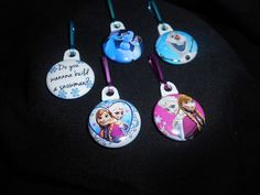 Frozen Zipper Pulls. Would be perfect on a by GrandmasBowsonETSY, $7.00