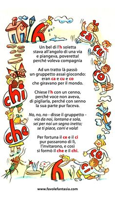 . Italian Alphabet, Italian Vocabulary, Learning Italian, Reading Material, Home Schooling, Teaching Art, Montessori, Language, Education