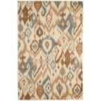Ikat Cream (Ivory) 5 ft. x 7 ft. 7 in. Area Rug