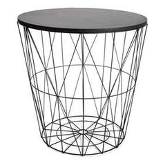 Hudson wire frame side table mtv cribs bedroom retreat and kmart wire storage table black 19 greentooth Image collections