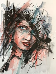 Indian ink painting on paper 30x40cm by jérôme Royer French artist #art #ink