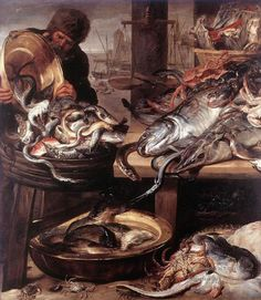 6 The Fishmonger still life Frans Snyders