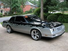 1986 Monte Carlo SS - Horrible paint job, but I want it. Chevrolet Monte Carlo, Old American Cars, American Muscle Cars, My Dream Car, Dream Cars, Old School Cars, Chevy Chevelle, Hot Rides, Sweet Cars