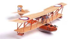This aircraft paper model is a Grigorovich M-9 (alternative designation ShCh M-9, sometimes also Shchetinin M-9), a Russian World War I-era biplane flying