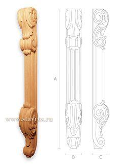 фото резных деревянных ножек для мебели MN-007