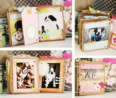 Mini album using scraps: This would be fun to do with all the pics of the activities we've been taking over the months.