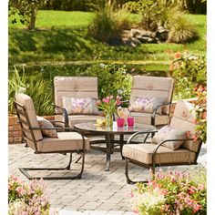 kennedy 5 piece lp gas fire pit patio conversation set 499