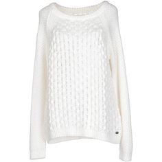 Only Jumper ($99) ❤ liked on Polyvore featuring tops, sweaters, ivory, long sleeve sweaters, white sweater, winter white sweater, long sleeve tops et jumper top