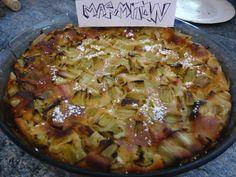 Clafoutis à la rhubarbe - Recette de cuisine Marmiton : une recette