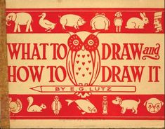 Here's a wonderful, whimsical freebie to help kids (and parents!) learn to draw. What to Draw and How to Draw was written in 1913 by E.G. Lutz and is one of the public domain books from the N…