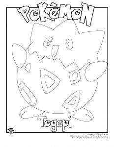 Togepi Coloring Page Pokemon Coloring Pages Coloring Pages