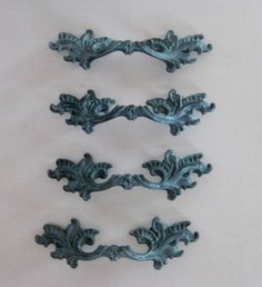 Lot of 4 French Provincial Pulls Any Finish by Fairyhome on Etsy, $19.60