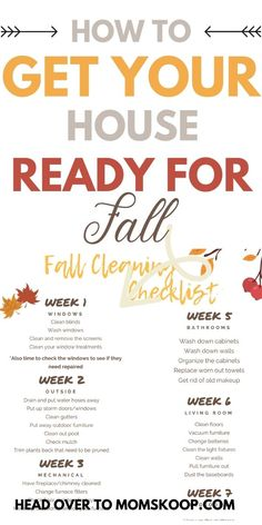 Fall Cleaning Checklist, House Cleaning Tips, Cleaning Hacks, Clean House Schedule, Cleaning Blinds, Home Management Binder, Amazing Life Hacks, The Help, Keep It Cleaner