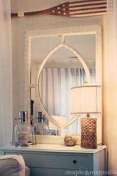 Farmhouse Guest Cottage Tour - love the nautical / farmhouse feel.  It's gorgeous! , Love the lamp