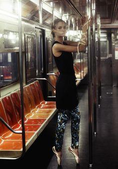 subway ballet: amanda norgaard by marco trunz for kurv magazine spring/summer 2013