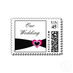 Black and hot pink wedding theme...